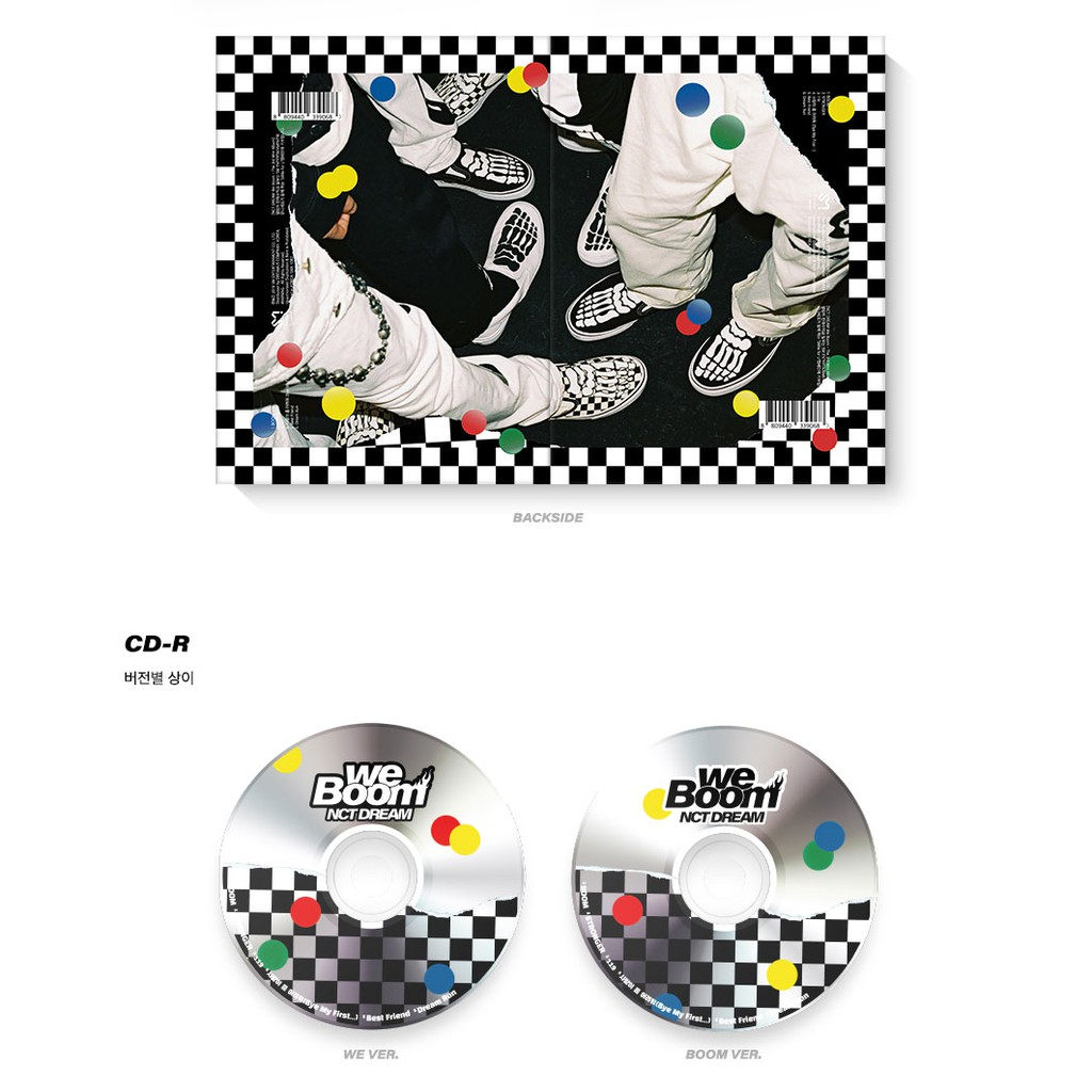 Nct Dream We Boom Extra 4 Photocards Set Boom Version Album CD+Booklet+Photocard+Boom Card+Circle Card+Gift
