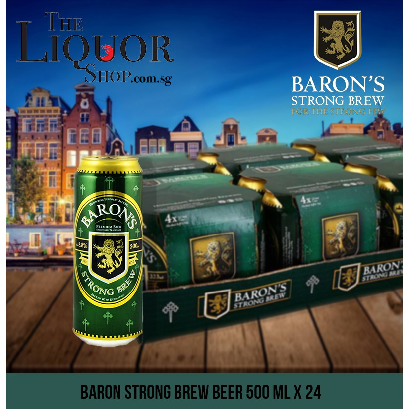 Baron Strong Brew Beer 500ml X 24 Long Cans