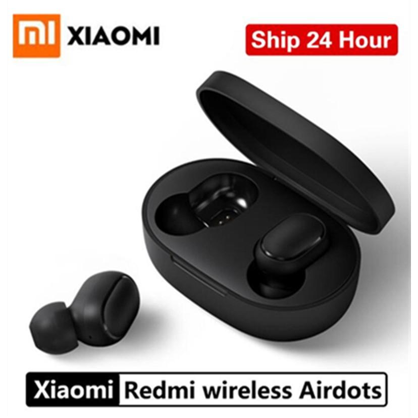 XIAOMI Redmi Airdots TWS Bluetooth 5 0 True Wireless Earphones Stereo Bass  Earpods