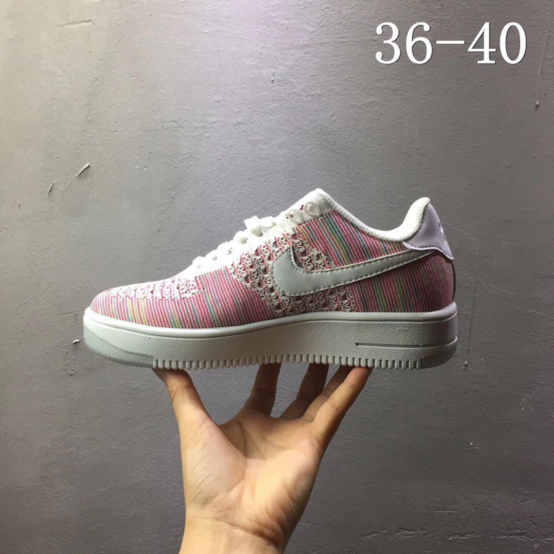 promo code a6c96 f8438 Original Kyrgyzstan Air Force 1 fly line knitted breathable sports casual  low c