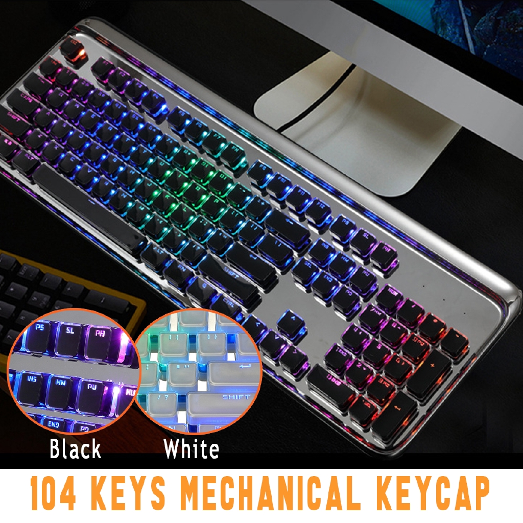 104 Abs Keys Caps Double Backlight Diy Keycaps Set For Mechanical Keyboard