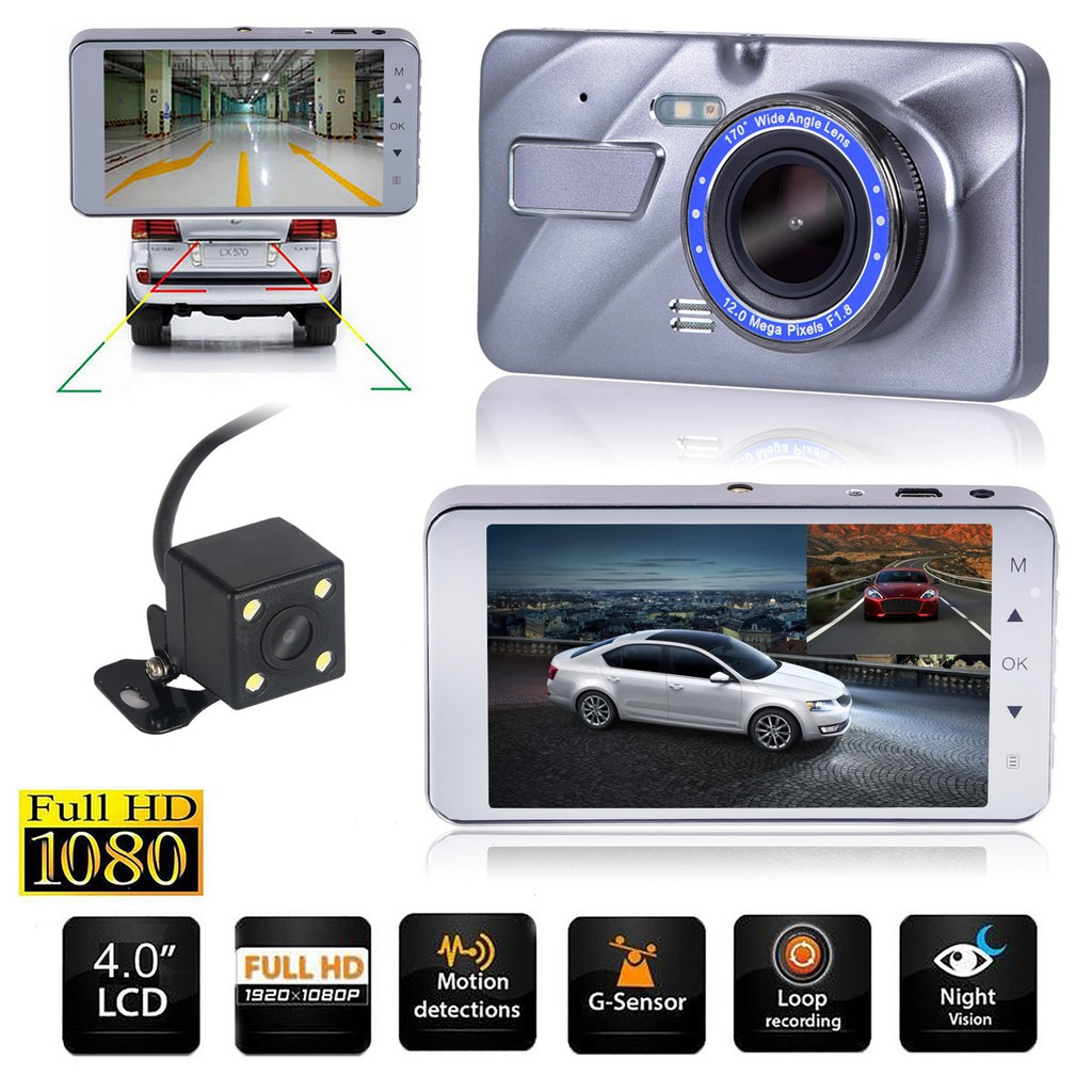 1080P 120°Full HD Night Vision Car DVR Vehicle Camera Video Recorder Dash Cam GA
