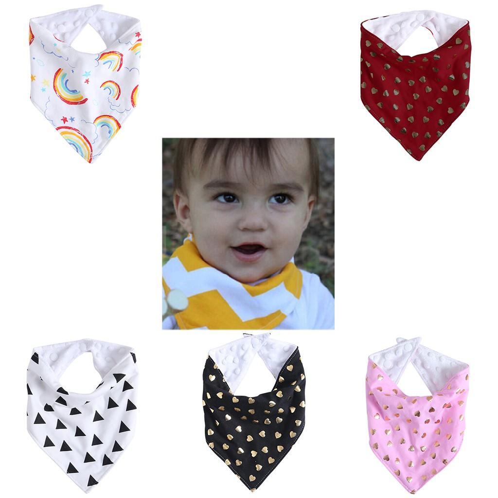 1//2pcs Infant Kids Baby Roll Bibs Boy Girl Toddler Saliva Towel Triangle Bandana