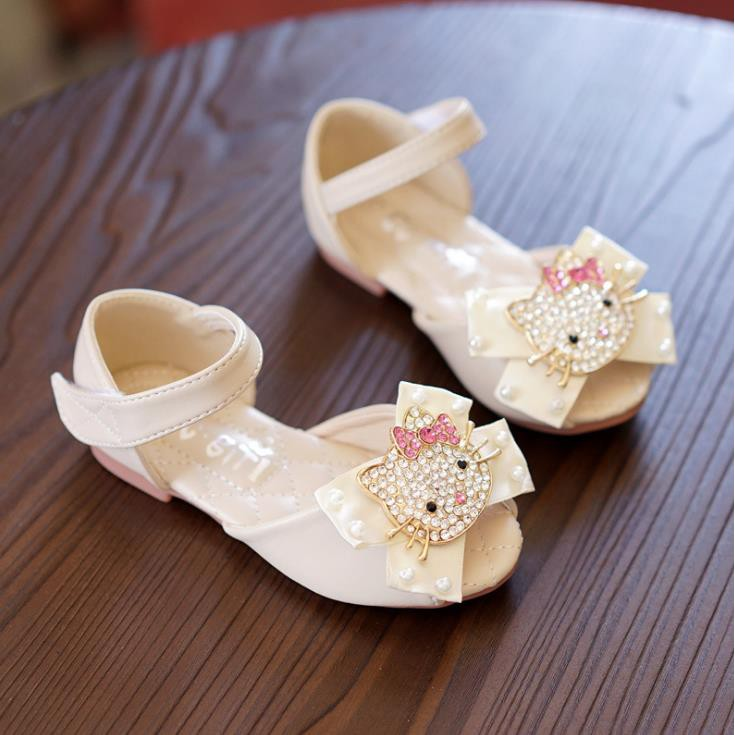 New Children s Shoes Lovely Cartoon Girls Hello Kitty Sandals Princess Shoes 422c15797d5d