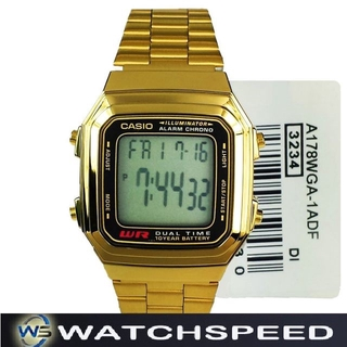 Casio A178WGA 1A A178WGA 1 Digital Stainless Steel Alarm
