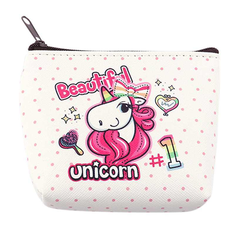 Girl Unicorn Coin Purse Card Key Bag Headset Women Zero Wallet Cartoon Pattern