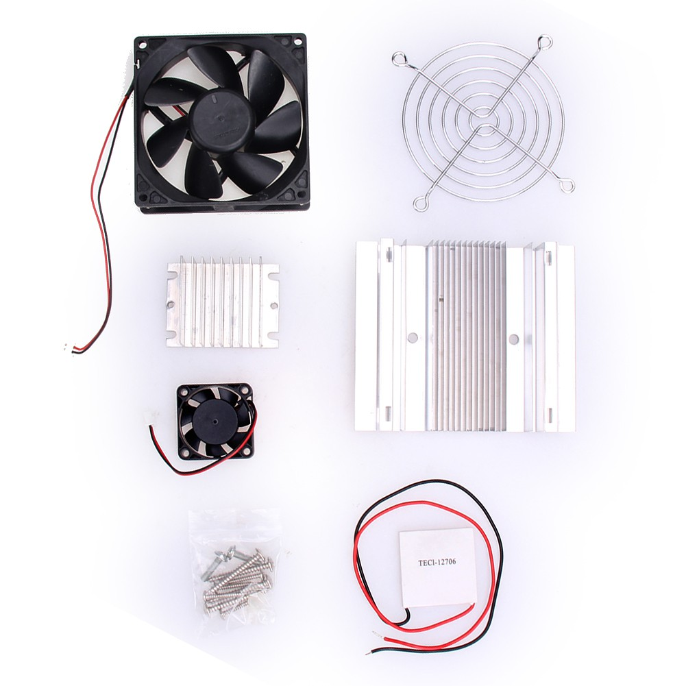 Hitommy Thermoelectric Peltier Refrigeration Cooling System Kit Cooler Fan DIY