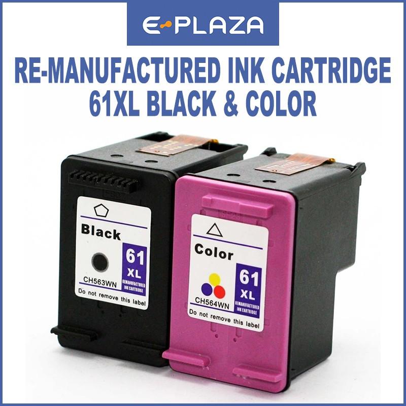 HP Re-Manufactured Ink Cartridge 61XL Black/Tri-Color