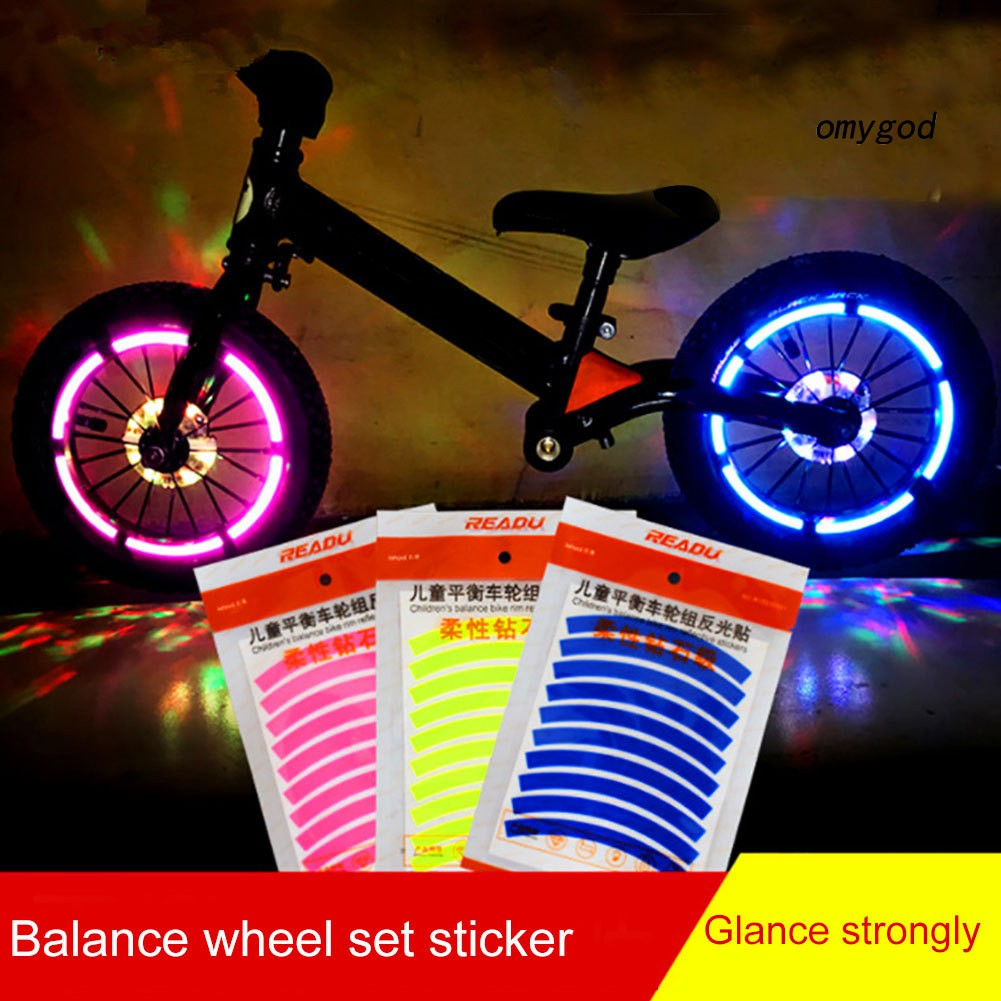 48 Bright Reflective Sticker Tape for Sport Bike,Bicycle Wheels-Light Reflector