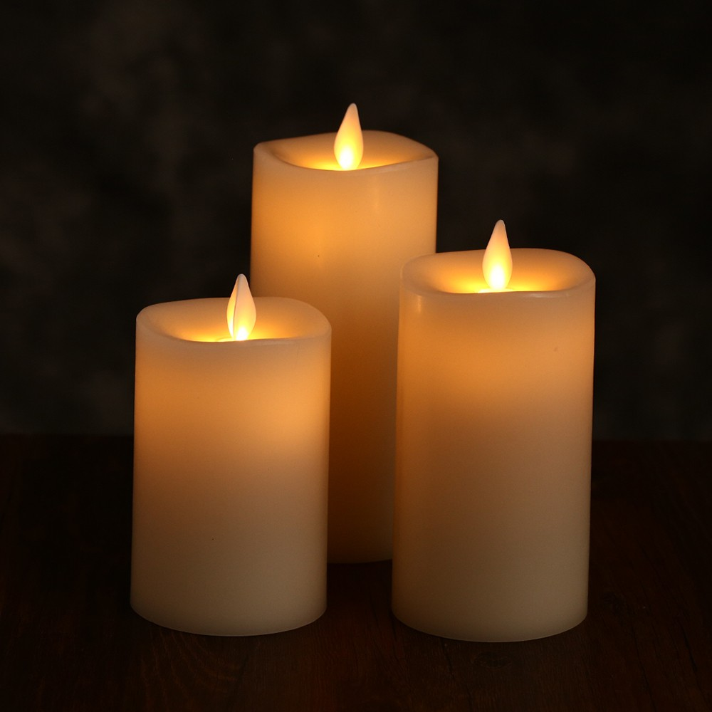 Vcn Romantic Electronic Led Candle Light Flameless Wavering Flickering Flamewax Candleled Circuit Shopee Singapore