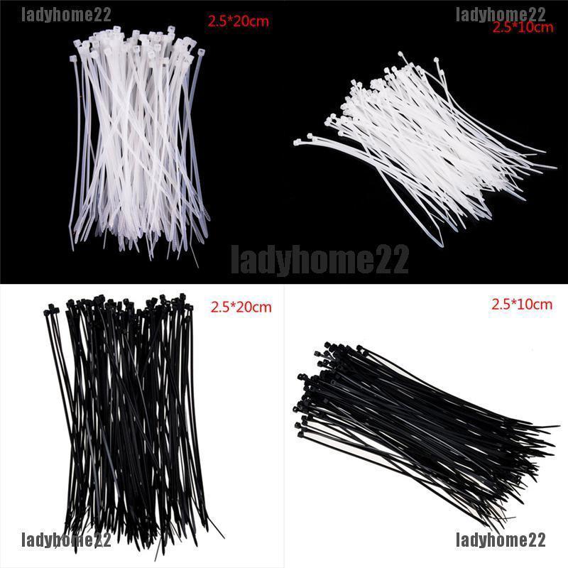 Fashion 100pcs 3x150mm Nylon Cable Tie Wrap Zip Wrap Fasten Wire Self-Locking