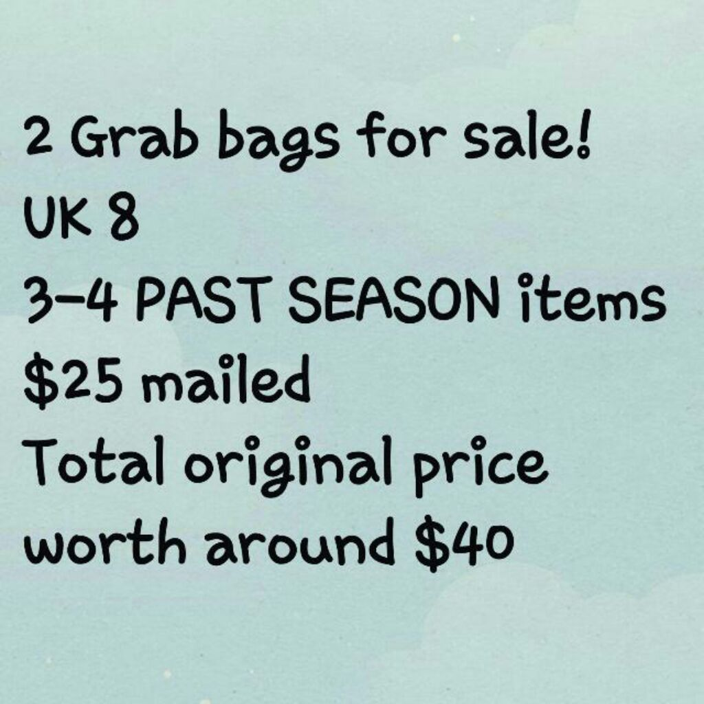 a2103cd8b9a 2 Grab Bags for sale @ $25 mailed each (Size UK8 only!) | Shopee Singapore