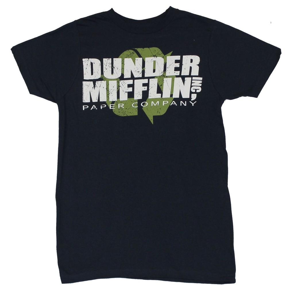 810313c4 The Office Dunder Mifflin INC Paper Company Logo Black T-shirt Tee   Shopee  Singapore