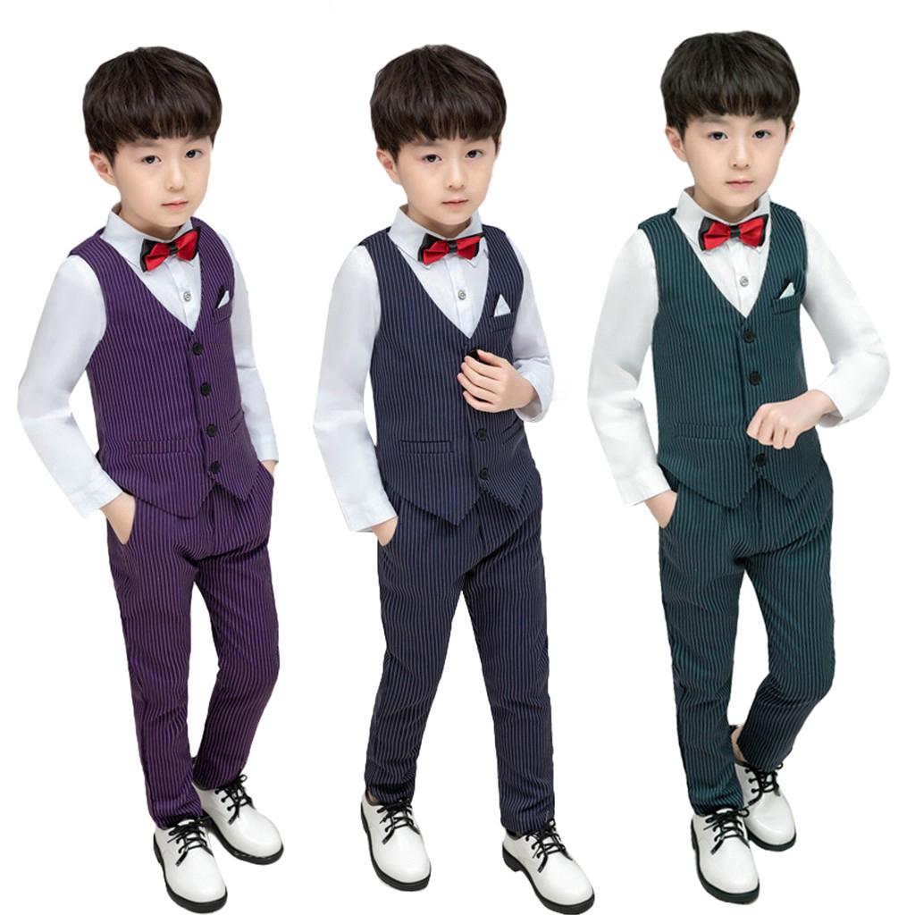 PARTY BOYS RECITAL GRADUATION PINSTRIPE SUIT SET SIZE: 5 to 20
