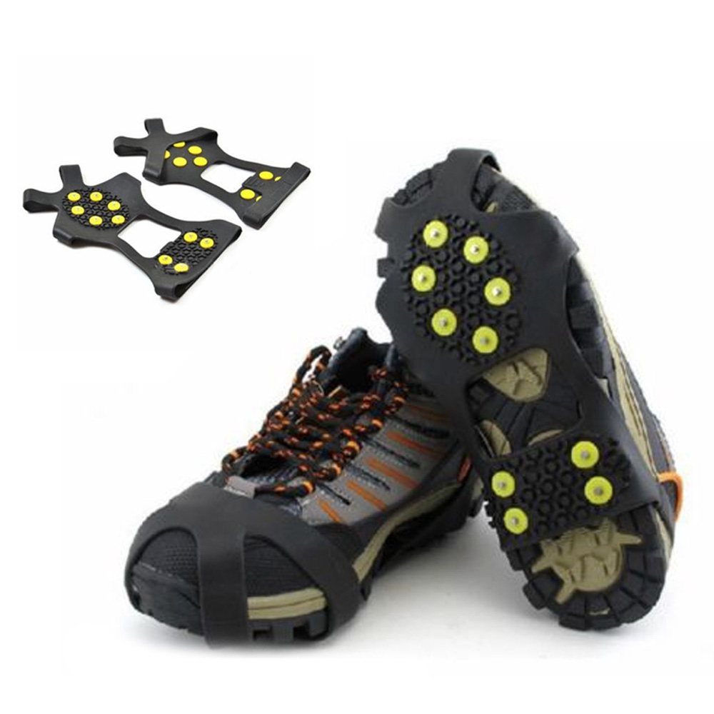 Durable Anti Slip Snow Ice Climbing Spikes Grips Crampon Shoes Cover Hiking
