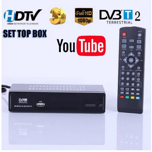 M2 DVB-T2 Terrestrial Receiver HD Digital TV Tuner DVB T2 H 264 Set Top Box