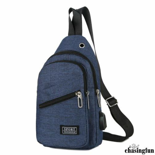 Men Chest Pack Messenger Sling Sport Travel Crossbody Shoulder Bag Backpack