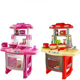 Chef Play Kitchen Set Cooking Toy Playhouse Electric Kids Toddler Simulation