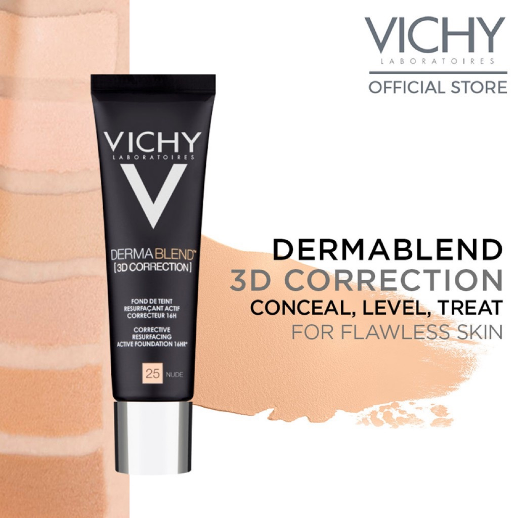 Vichy Dermablend 3d Foundation Shade 20 Shopee Singapore