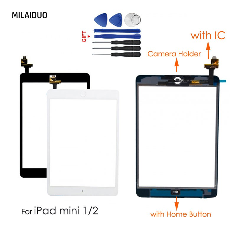 OEM Display For iPad Mini 1 2 Touch Screen Digitizer Replacement IC+Home Button