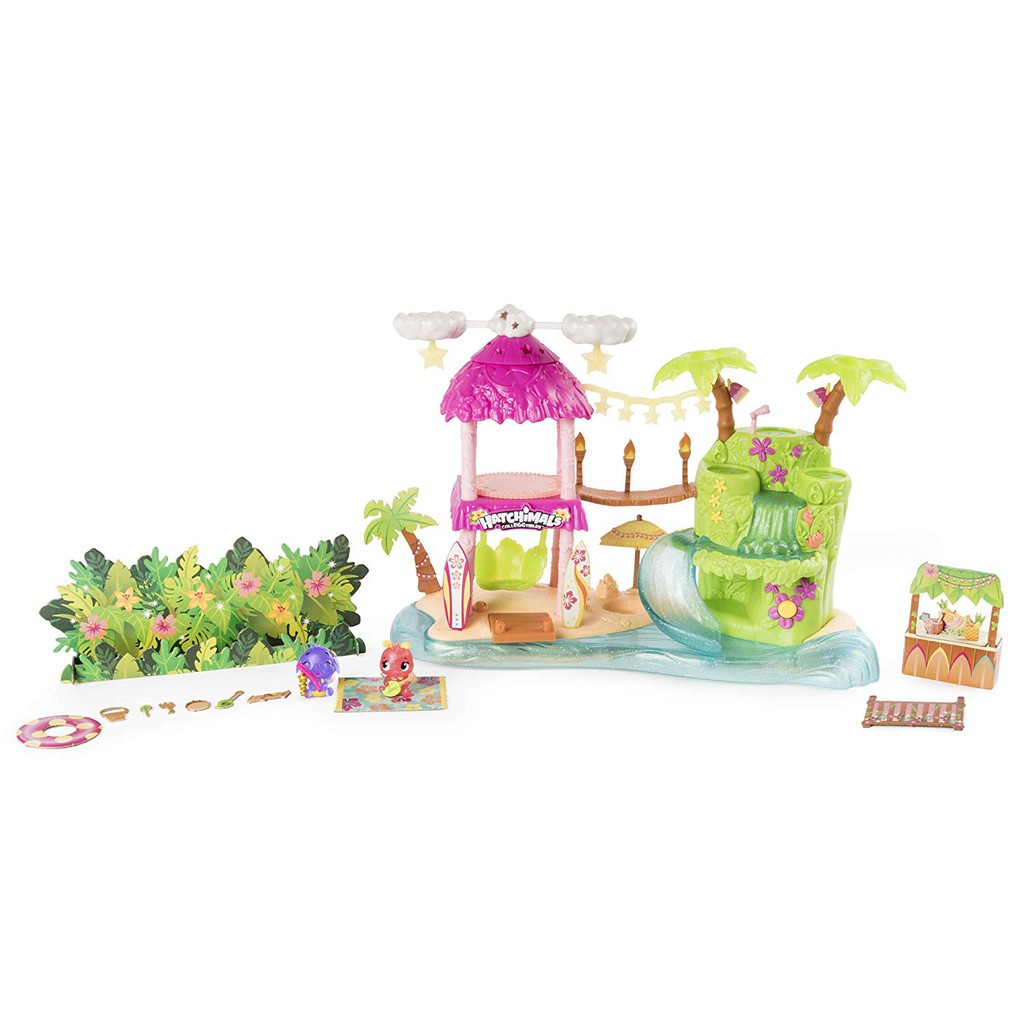 Hatchimals CollEGGtibles — Tropical Party Playset with Lights Sounds and Season
