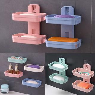 Plastic Bathroom Home Kitchen Accessories Towel Soap Rack Storage Box Holder
