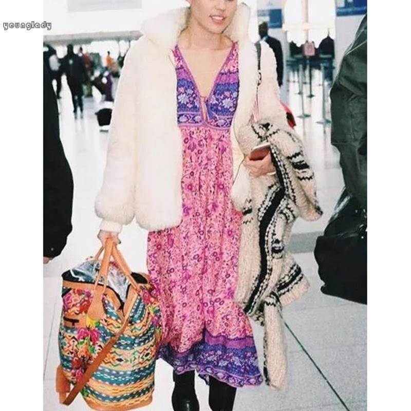 Midi Dress Kaftan Maxi Plus Size Summer Spring Chiffon V Neck Kimono Flowy