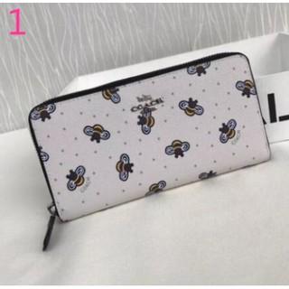 low cost 1db11 351ef Coach F23498 bee new long wallet zipper wallet multi-layer ...