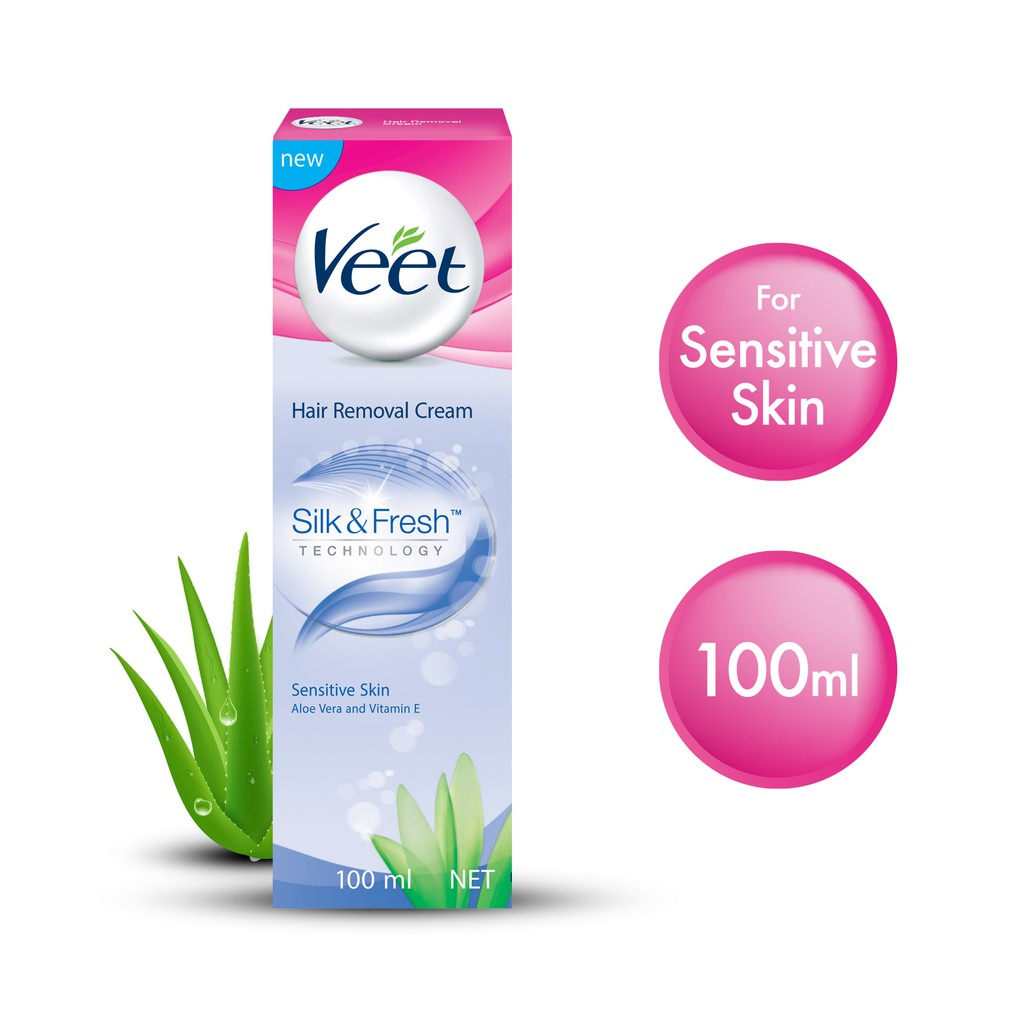 Veet Hair Removal Cream For Sensitive Skin 100ml Shopee Singapore
