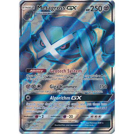 Pokemon Guardians Rising Metagross-GX 139//145 Full Art Ultra Rare Card