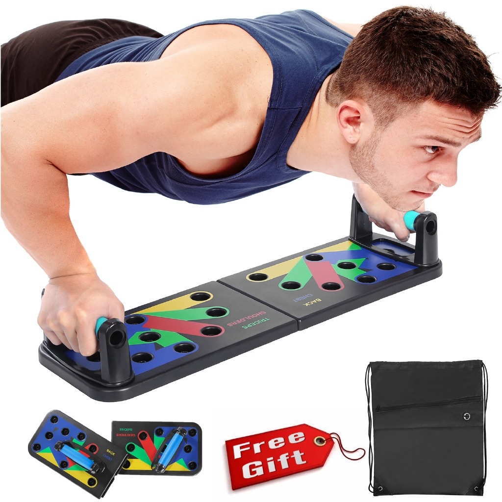 14-in-1Portable Foldable Push-Ups Board Muscle /& Strength Training Tools Workout Multi-Function Push-Up Board