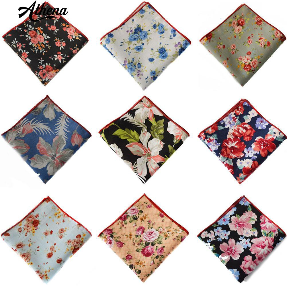 🐳Men Ethnic Flower Pocket Square Towel
