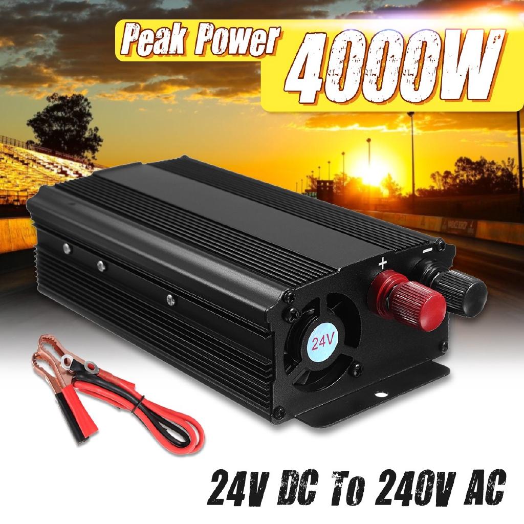 4000W Peak Modified Sine Wave Power Inverter 24V DC 220V AC Car Converter New HG