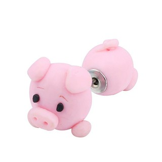 1dae21d5188b Cute Pig Stud Fashion Jewelry Earring Polymer Clay 3D Cartoon Animal ...