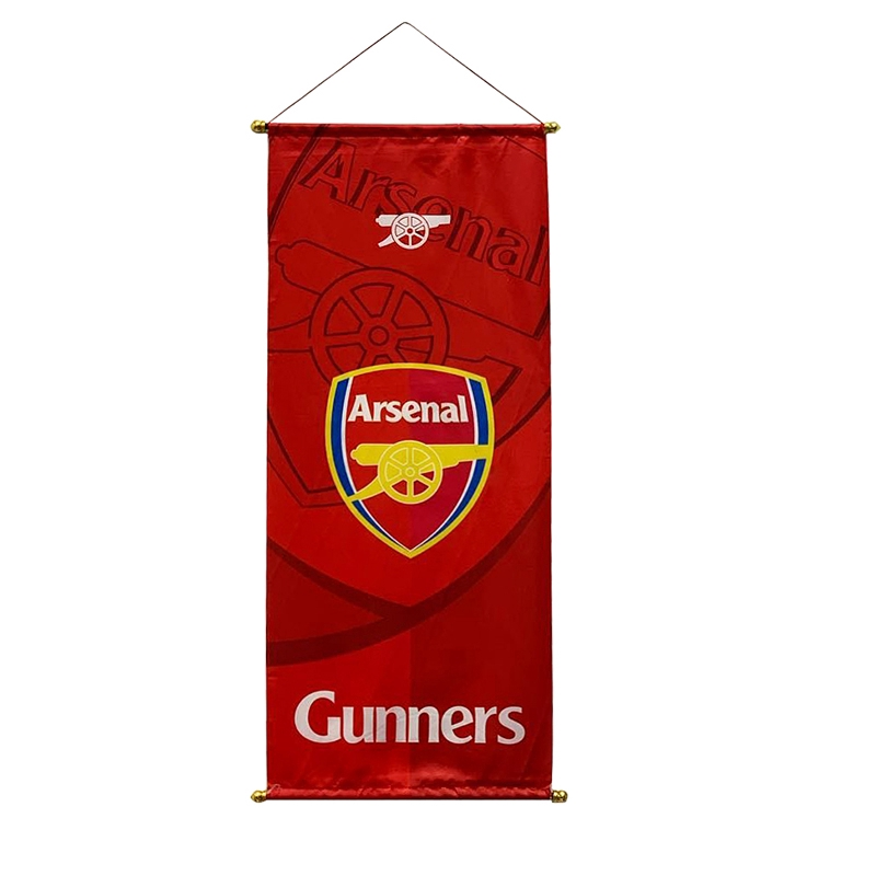 Hanging Picture Print Decorate Scroll Painting Decoration Football Club Flag Hanging Flag Bar Arsenal Liverpool Psg Barcelona Bayern Dortmund Inter Milan Real Madrid Chelsea Tottenham Shopee Singapore
