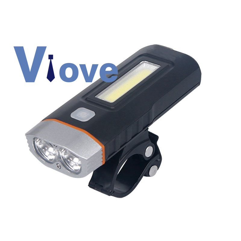 Bike Bicycle Lights USB LED Rechargeable Set Mountain Cycle Front Headlight  ♪