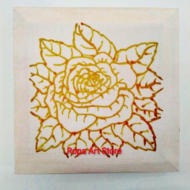 Set Mewarna Batik Corak Bunga Ros