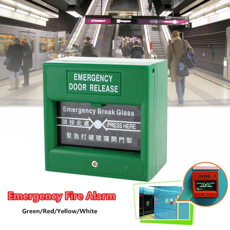 Emergency Door Release Fire Alarm Switch Break Security Glass Exit