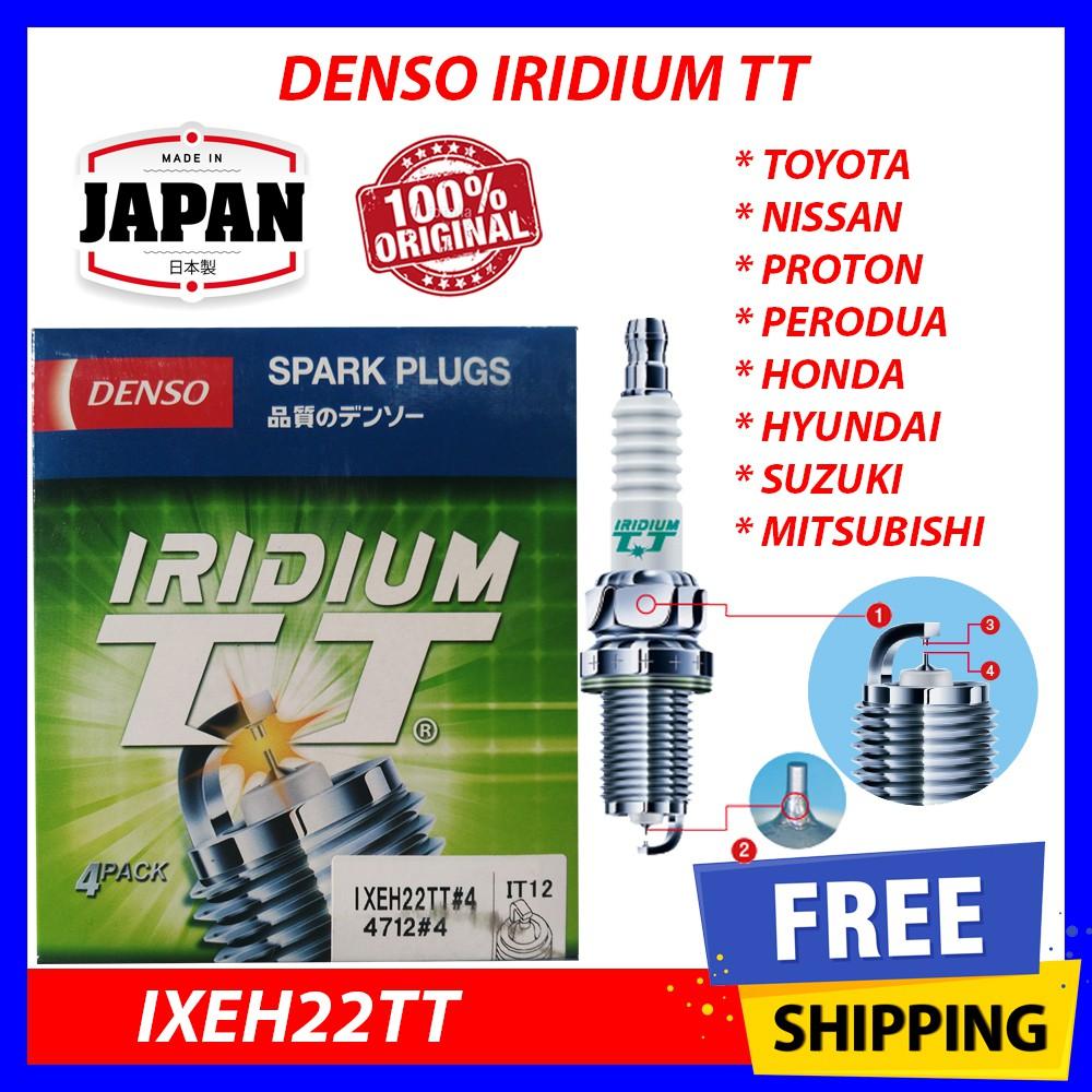 Denso Iridium TT Spark Plugs IXEH22TT 4712 Made in Japan Set of 8