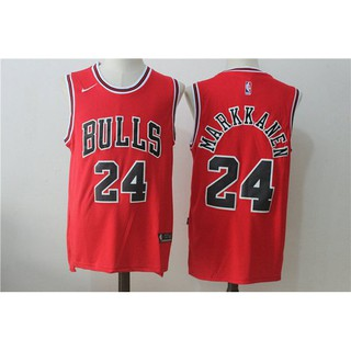 best loved a30a0 75c36 Nike Lauri Markkanen Chicago Bulls #24 Red Stitched NBA ...