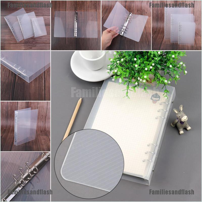 creative transparent twill pp binder shell a6 a5 six-hole b5 nine-hole folder FO