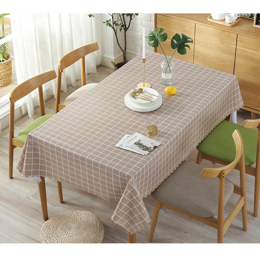 Pvc Oil Proof Plaid Table Cloth Cover
