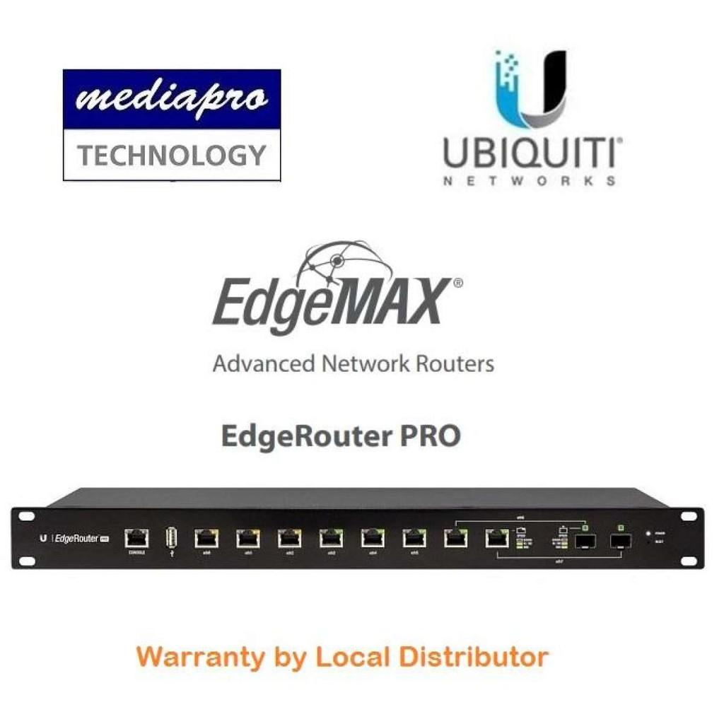 Ubiquit ERPRO-8 EdgeRouter PRO 8-Port Router with 2 SFP/RJ45 Ports