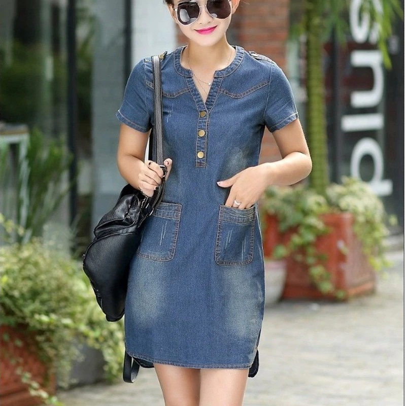 Denim Dresses for Misses,blue jean dress,