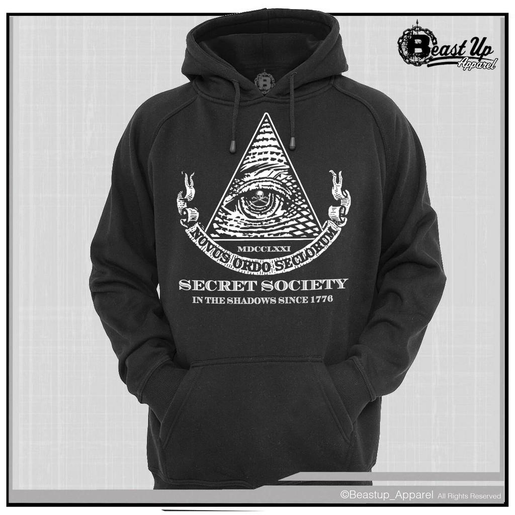 Secret Society Illuminati Men's Hoodie Hoody Sweater New World Order  Father's Day