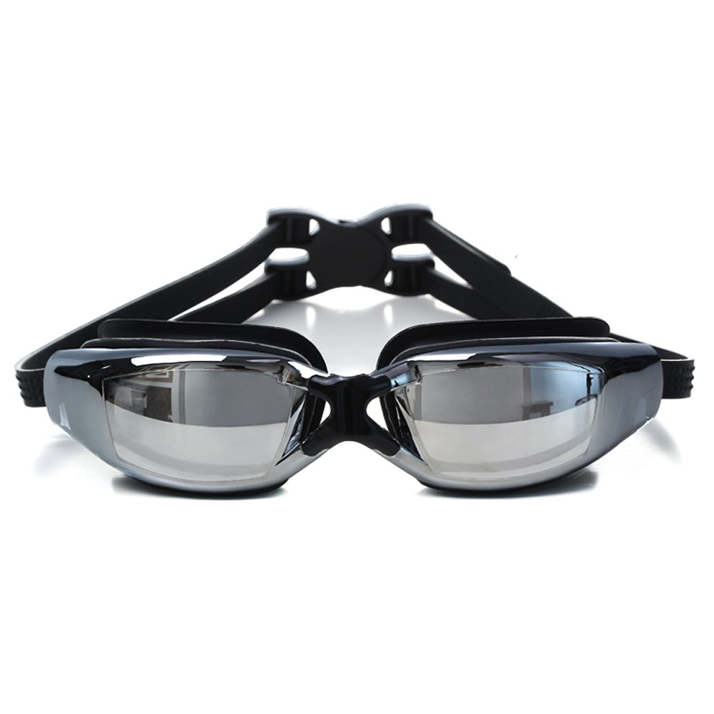 Adult electroplating professional waterproof myopia swimming goggles