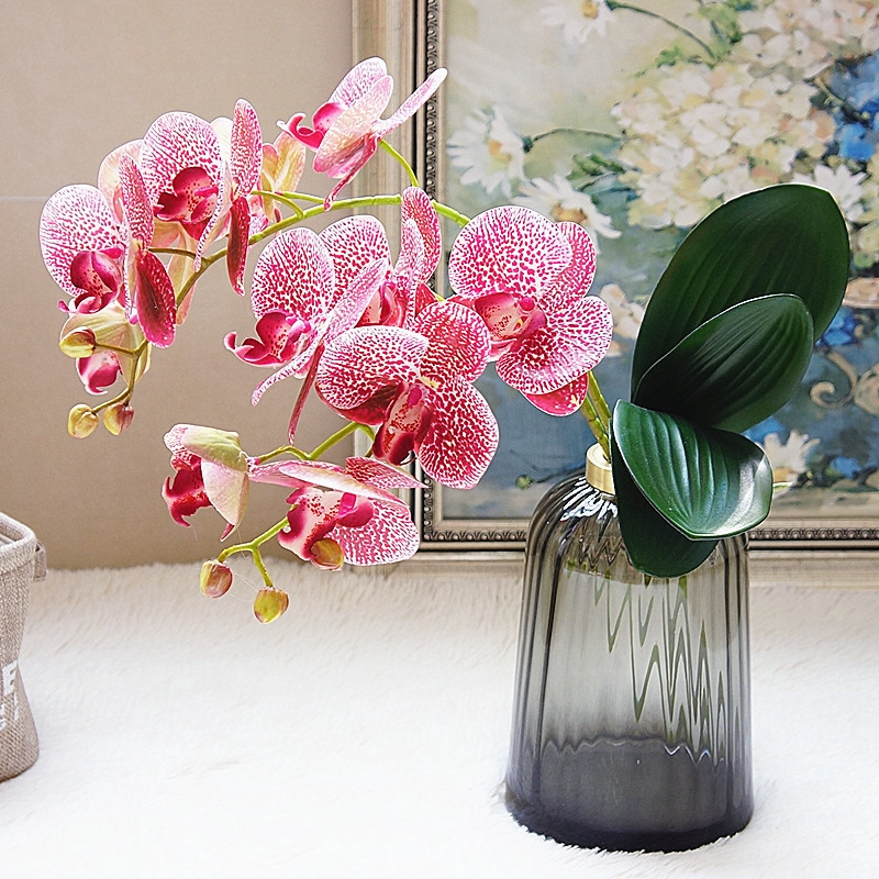Artificial Butterfly Diy Orchid Silk Flower Bouquet Phalaenopsis Fake Flowers Home Wedding Party Decoration Flowers Shopee Singapore