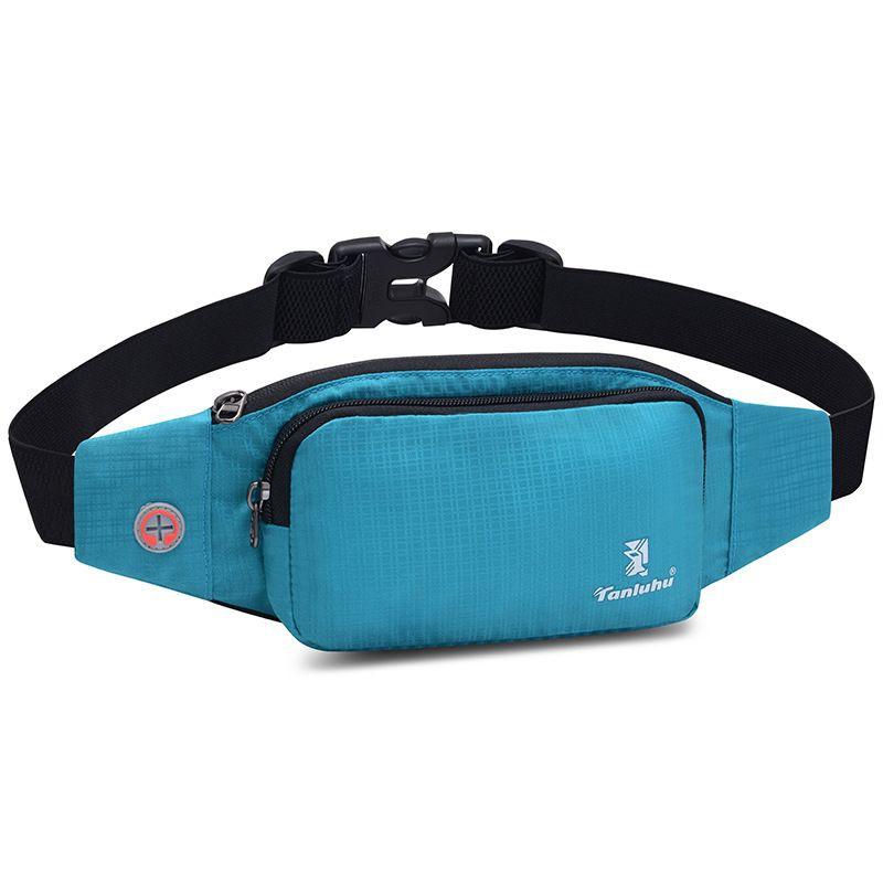 "Unisex Blue 5.5/"" Waist Pack Mobile Phone Belt Bag With Zipper Compartment"