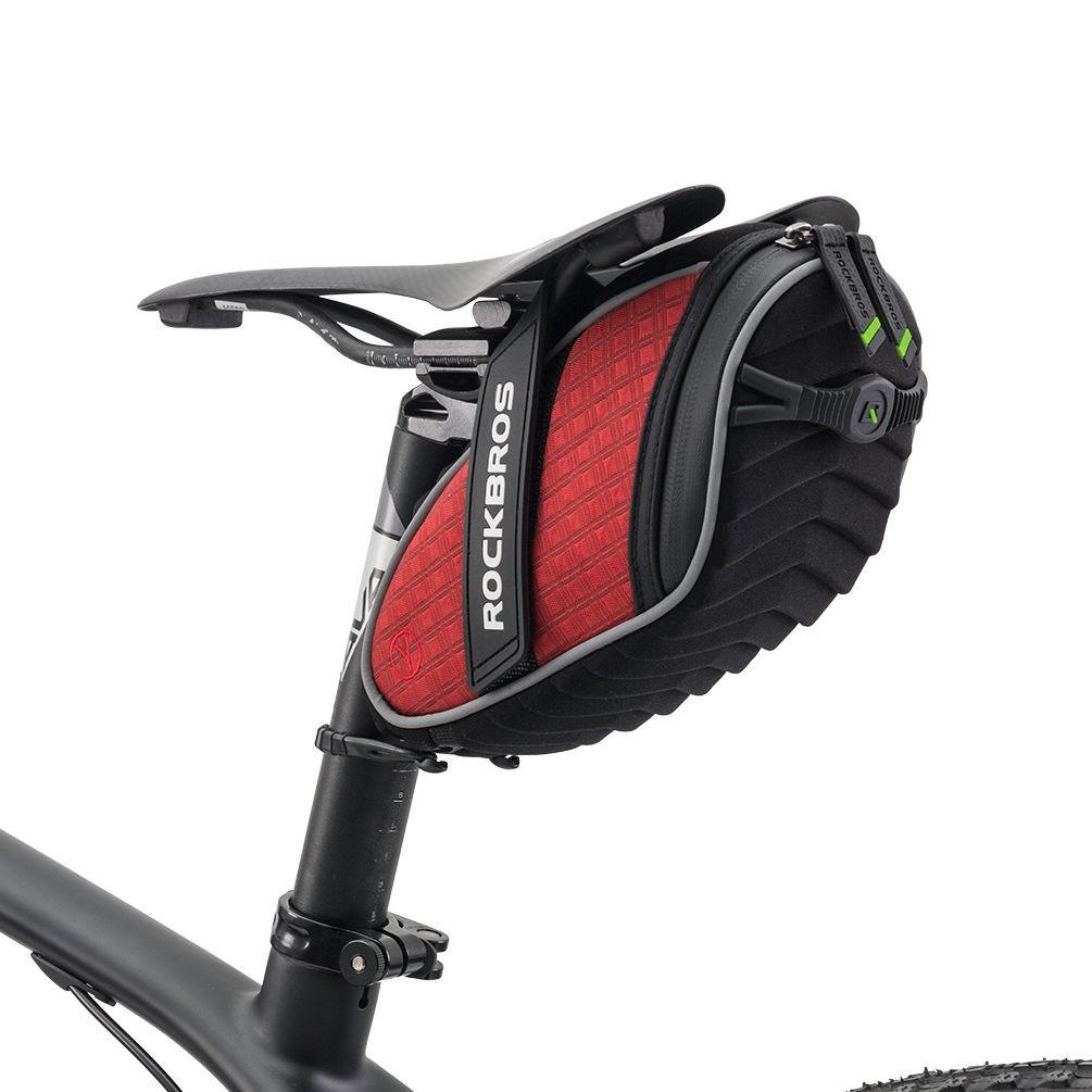 ROCKBROS Cycling Bag Saddle Bag Reflective Rear Seatpost Bike Bag Rainproof Bag