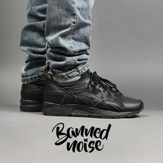 huge discount f0257 b77e7 【READY STOCK】ASICS GEL-LYTE V Black Knight all black couple retro running  shoes